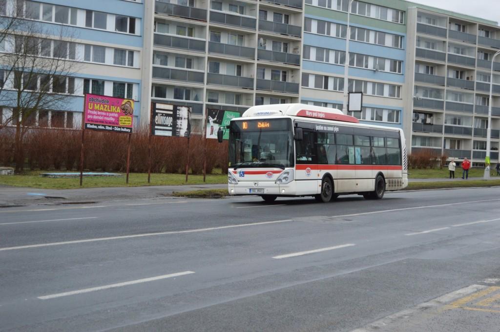 linka 10 Kladno,,Sítná ČSAD MHD Kladno Irisbus Citelis 10,5m CNG 1SU 9501