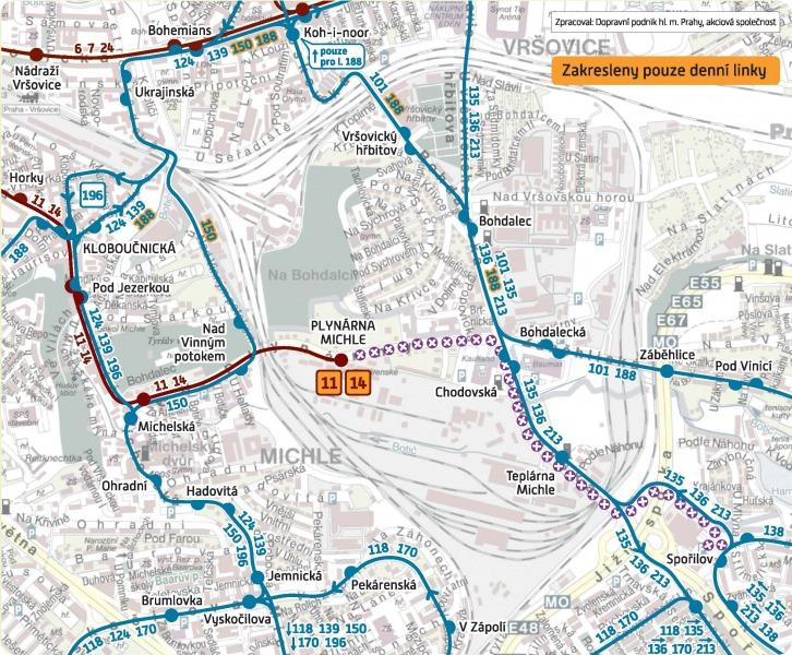 mapa_michle-sporilov