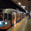 Lehké metro M1a na Atatürkovo letiště ve výchozí stanici Yenikapi.