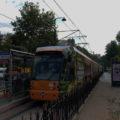 Tramvaj linky T1 směr Kabataş v zastávce Tophane.