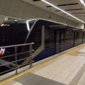 Podzemní lanovka F1 v horní stanici Taksim.