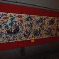 Výzdoba stanice metra Taksim.