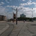 Tramvajové obratiště Taksim pro linku T2.