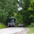 V rozporu se stanovením nebyl na silničku u Vlčkova zakázán vjezd ostatní dopravy než autobusů, nezřídka tak docházelo k nepříjemným setkáním v nepřehledných úsecích, jaký je například i v tomto lesíku.