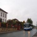 Náhradní zastávka v Němčicích u školy s ranním spojem ze Třebové do Poříčí u Litomyšle.