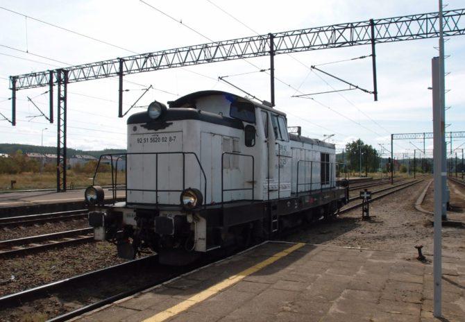 Ve stanici Lębork je nutné vyměnit elektrickou lokomotivu za dieselovou